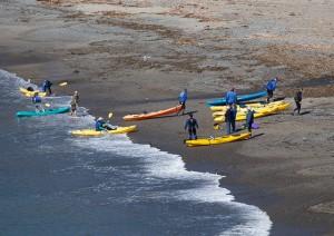 Kayaks on Van Damme
